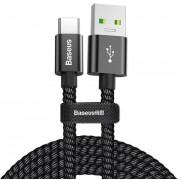 Кабель Baseus CATKC-A01 double fast charging USB для Type-C 5A 1.0 м (Черный)