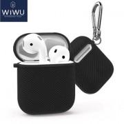 Чехол для наушников WIWU Carbon для Apple AirPods (Черный)