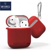 Чехол для наушников WIWU Carbon для Apple AirPods (Красный)