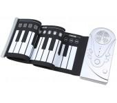 Портативное силиконовое гибкое пианино Roll Up Piano - 49 клавиш