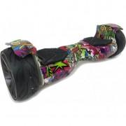 Гироскутер Smart 9 дюймов Offroad с Bluetooth, сумка (Графити фиолетовый)