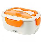 Контейнер для еды с подогревом Electronic Lunch Box от сети 220В (Оранжевый)