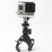Крепление-прищепка на трубу для камер GoPro (Черный)