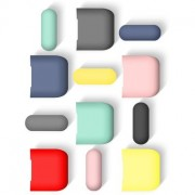 Набор чехлов для наушников Wiwu iGlove для Apple AirPods 3 шт (желтый,розовый,бирюзовый)