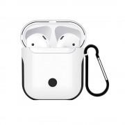 Пластиковый чехол iGuardian с карабином WIWU Armor для Apple AirPods (Белый)