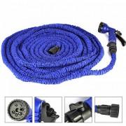 Поливочный садовый шланг с насадкой-распылителем Magic hose 30 метров (Синий)