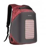 Рюкзак Антивор с солнечной батареей Baibu 1914 для ноутбука 15.6 дюймов (Черный с красным)