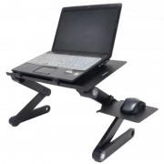 Столик-трансформер для ноутбука T8 с вентилятором (Черный)