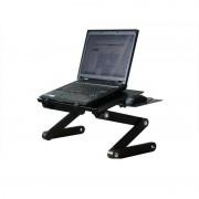 Столик трансформер для ноутбука T9 с охлаждением (Черный)