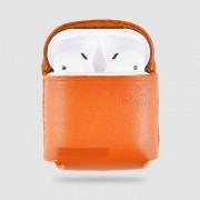 Защитный чехол WIWU AP302 из натуральной кожи для Apple AirPods (Оранжевый)