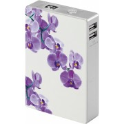 Interstep Внешний Аккумулятор INTERSTEP 12000мАч орхидея IS-AK-PB12CHRYW-WHTB201 (Белый)