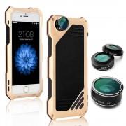 Противоударный чехол lens 3 для iphone 5/5s/se (Золотой)