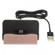 Док-станция зарядное устройство универсальное для смартфонов с Type-C (Розовый)