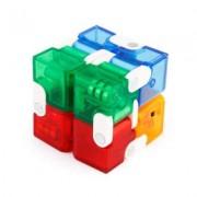 Игрушка-антистресс головоломка Infinity Cube куб трансформер (Цветная)