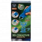 3D ручка детская светящиеся чернила (синий)