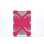 Универсальный силиконовый чехол для планшета с диагональю 9, 10, 11 дюймов (Малиновый)