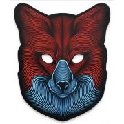 Звуковая светодиодная маска LED Mask fox