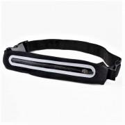 Спортивная сумка на пояс с LED подсветкой для бега extreme fitted belt (Черный)