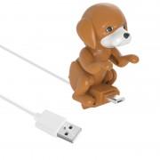 Кабель USB на Micro USB собачка двигается (Коричневый)