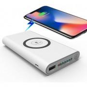 Беспроводной Qi PowerBank Wireless 20000 мАч с функцией беспроводной собственной зарядки внешнее зарядное устройство (Белый)