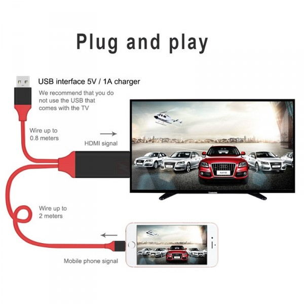 Адаптер-переходник Lightning to HDTV Cable для iPhone