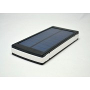 Портативный аккумулятор с солнечной батареей Power Bank (Белый)