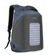 Рюкзак Антивор с солнечной батареей Baibu 1914 для ноутбука 15.6 дюймов (Черный с синим)