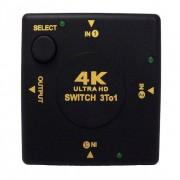 Переключатель распределитель 3-х портовый Switch Ultra HD 4K для DVD HDTV XBOX PS3 hdmi selector 3 to 1