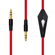 Аудио кабель AUX 3.5мм с контроллером mini-jack папа - папа 1,2 м