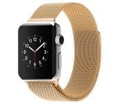 Ремешок Milanese Loop для Apple Watch 42 44 мм (Золотой)