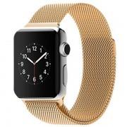 Ремешок Milanese Loop для Apple Watch 42 44 мм, ремешок на магнитной застежке, гибкий, нервущийся (Золотой)