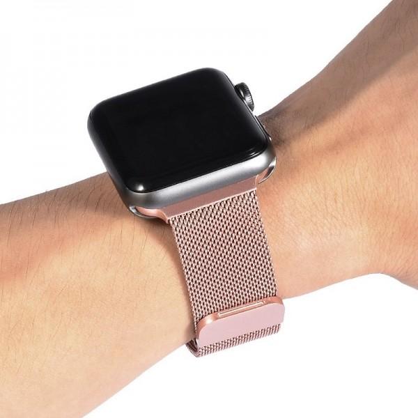 Ремешок Milanese Loop для Apple Watch 38 40 мм (Розовое золото)