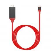 Кабель USB Type C на HDMI для Samsung Galaxy S8 (Красный)