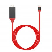 HDTV адаптер Кабель USB Type C на HDMI для Samsung Galaxy S8 (Красный)