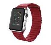 Ремешок для часов Apple Watch фактурный с магнитами 42 (Красный)