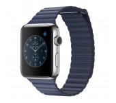 Ремешок для Apple Watch кожаный магнитный 38 (Синий)