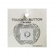 Стикер наклейка на кнопку Iphone 6 (Серебро с белым)