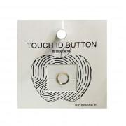 Стикер наклейка на кнопку Iphone 6 (Золото с белым)