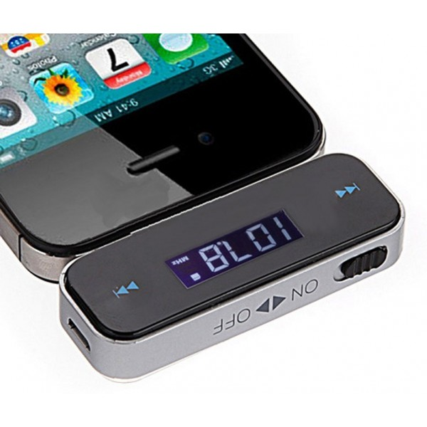 Устройство громкой связи ФМ трансмиттер aux в автомобиль handsfree transmitter (Черный)