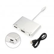 Переходник Lightning папа, Audio VGA HDMI мама Digital AV Adapter