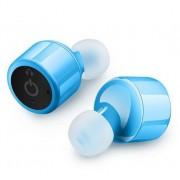 Беспроводные Bluetooth наушники TWS X1T со встроенным микрофоном (Голубой)