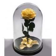 Вечная роза в колбе Красавица и Чудовище (Желтая)