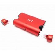 Беспроводные Bluetooth наушники Гарнитура TWS X2T с док зарядкой (Красный)