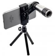 Объектив универсальный для смартфона 12x Magnifier Zoom Aluminum Camera Telephoto Lens