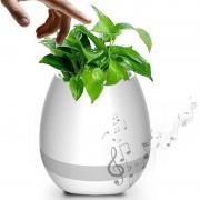 Музыкальный цветочный горшок аудиоколонка Smart Music Flowerpot Bluetooth (Белый)