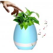 Музыкальный цветочный горшок колонка Smart Music Flowerpot Bluetooth (Голубой)