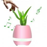 Музыкальный цветочный горшок колонка Smart Music Flowerpot Bluetooth (Розовый)