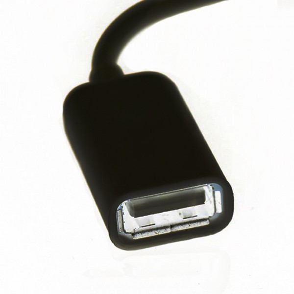 Переходник адаптер AUX Jack 3.5 папа на USB мама (Черный)