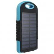 Powerbank со встроенной солнечной батареей Solar Power Bank Charger 12000 mAh (Голубой)