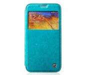 Чехол книжка View Case для смартфона Samsung Galaxy Note 3 SM-N900, SM-N9005, SM-N9002 (Голубой)